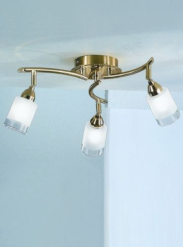 Franklite DP40013 Polished / Satin Brass Ceiling Light